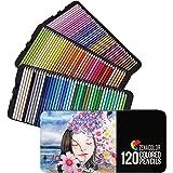 120 (Genummerde) Kleurpotloden-set - Kleurpotloden voor kunstenaars met etui - Doos met professioneel kleurpotlood, ideaal vo