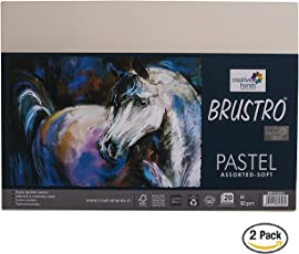 Brustro Artist's Pastel Papers 160 GSM A4 Assorted Soft of 2 Packets (Each Packet Contains 20 Sheets)