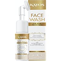 Kayos Facewash for Acne Prone Skin with Salicylic Acid, Tea Tree and Neem Oil Foaming Face Cleaner - 150mL