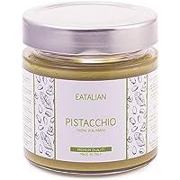EATALIAN Crème de pistache à tartiner 200 gr, crème de pistache naturelle et sicilienne, pâte de protéines Made in Italy de qualité supérieure. Goût sucré Idéal sur le pain et pour garnir les gâteaux