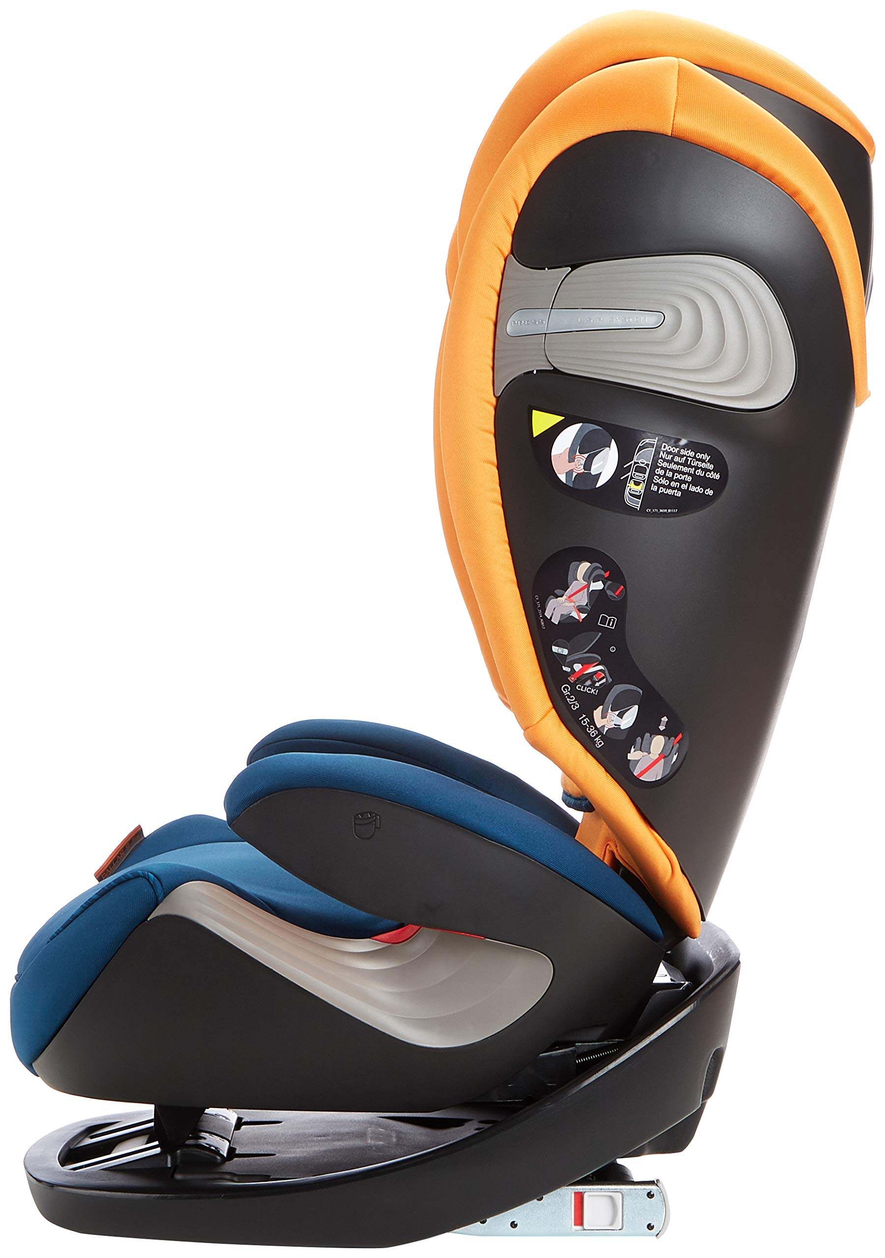 CYBEX Gold Pallas S-Fix 2-in-1 Child's Car Seat, For Cars with and without ISOFIX, Group 1/2/3 (9-36 kg), From approx. 9 Months to approx. 12 Years, Tropical Blue Cybex Sturdy and high-quality child car seat for long-term use - For children aged approx. 9 months to approx. 12 years (9-36 kg), Suitable for cars with and without ISOFIX Maximum safety - Depth-adjustable impact shield, 3-way adjustable reclining headrest, Built-in side impact protection (L.S.P. System), Energy-absorbing shell 12-way height-adjustable comfort headrest, One-hand adjustable reclining position, Easy conversion to Solution S-Fix car seat for children 3 years and older (group 2/3) by removing impact shield and base 4