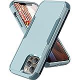 Funda Quikbee para iPhone 12/12 Pro de 6,1 pulgadas, [goma blanda de policarbonato duro 3 en 1] resistente a los golpes, prot