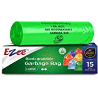 Ezee Bio-degradable Large Garbage Bags/Trash Bags/Dustbin Bags (24 X 32 Inches) Pack of 3 (45 Pieces) 15 Pcs Each Pack