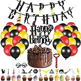 Yizhet Decoracion de Fiesta Mago, 49 Piezas Suministros de Fiesta de Cumpleaños de Mago, Banner de Feliz Cumpleaños Cupcake T