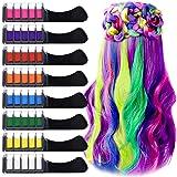 8 kleuren haarkrijt kam met deksel, EBANKU tijdelijke haarkrijt kleurset, niet-giftig wasbaar, mini instant haarkrijt kam voo