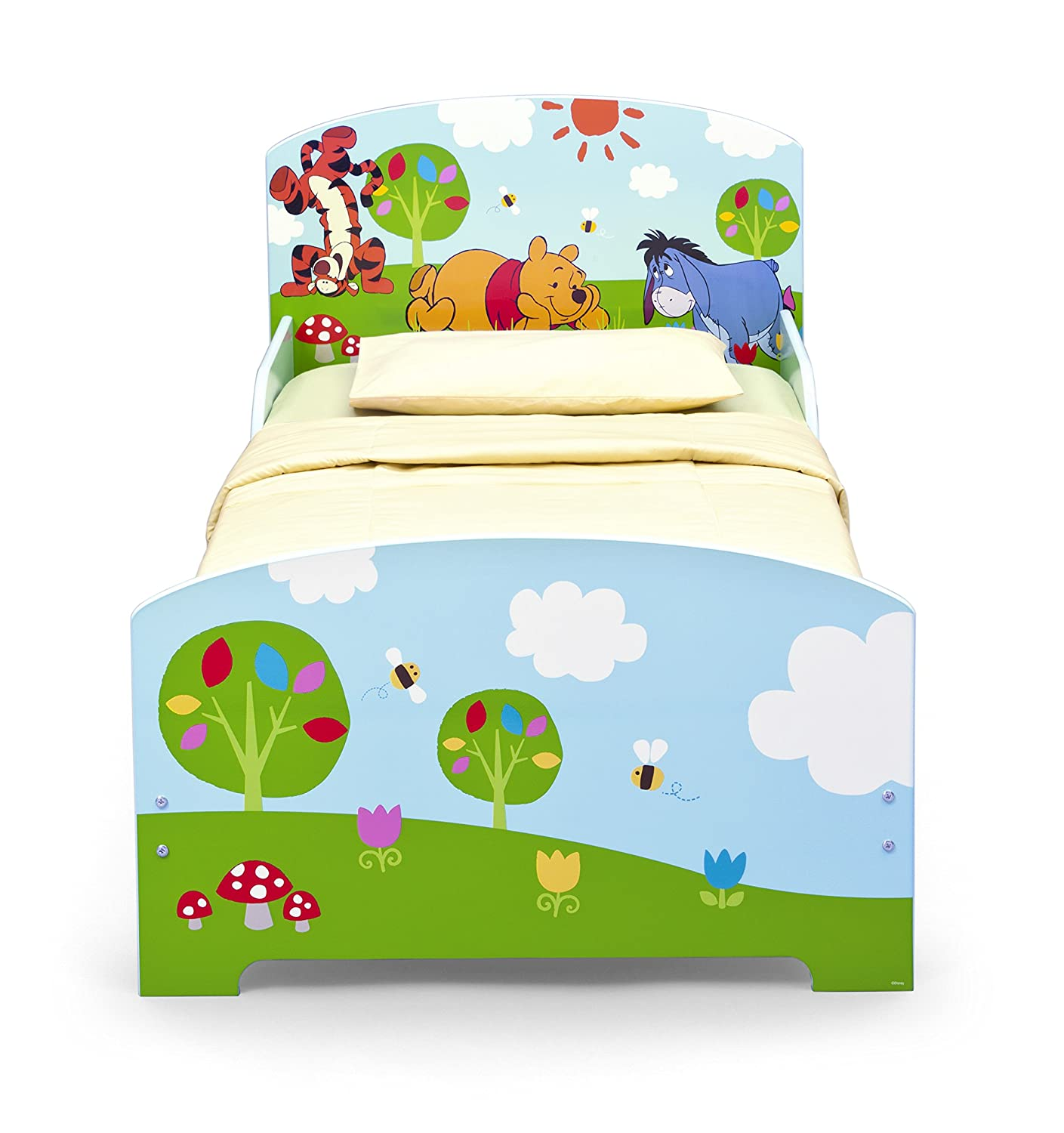 Winnie the pooh toddler bedding - Disney Winnie The Pooh Toddler Bed Blue Amazon Co Uk Kitchen Home