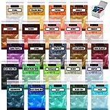 Poudre de Mica 24 Couleurs Colorants pour la fabrication de savon Teinture pour résine Poudre de Mica pour résine époxy bougi