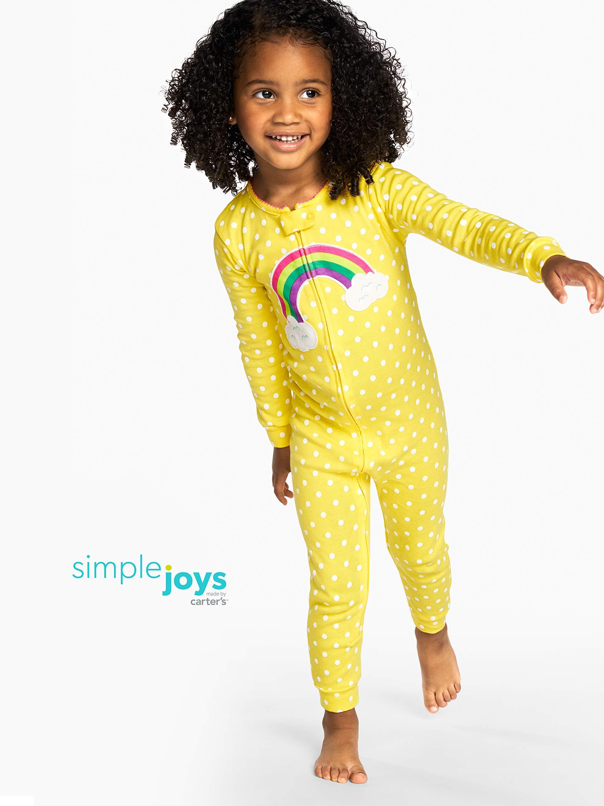 Simple Joys by Carter's 3-Pack Snug Fit Footless Cotton Pajamas Bebé-Niñas 2