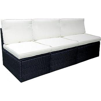 Amazon.de: Nexos Edle 3 teilige Garten-Couch - Polster creme/Poly ...