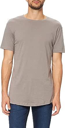 Urban Classics Men's Shaped Long Longline T-Shirt, Shortsleeves Tall Tee, Crew Neck, 100% Jersey Cotton