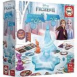 Educa Borrás-Frozen II Los Poderes de Elsa, juego de mesa con luz y sonidoy, a partir de 4 años, multicolor (18239) , color/m