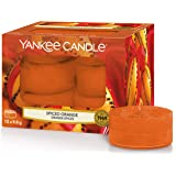 Yankee Candle candeline profumate tea light | Arancia piccante | 12 pezzi