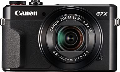 CANON Power Shot G7X Mark II Digital 20.1-Megapixel (Black),Camera with 16GB card + Case Cover