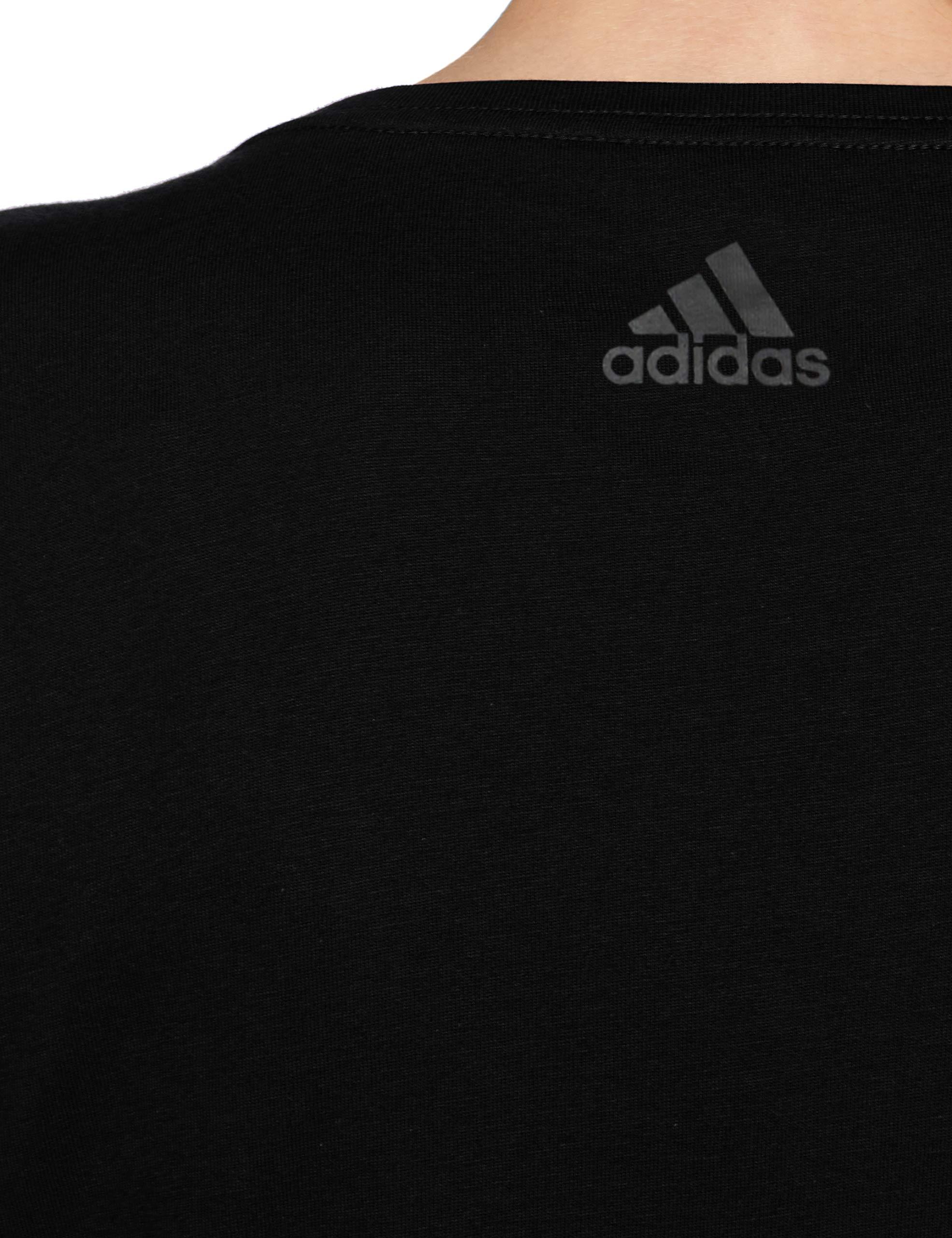 Dettagli su Adidas aop linear maglietta a maniche corte da donna dj1627 nero m (RWa)