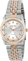 August Steiner Women's Marquess Diamond Stainless Steel Bracelet Watch