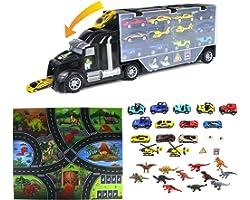 Macchinine Dinosauro Giocattolo per Bambini-Cars Giocattoli Gioco Dinosauri Macchinine,Costruzioni Educativi Regalo Camion pe