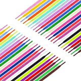 Celyoce 24 Pairs 137 cm Flat Shoe Laces, 24 Colors Athletic Shoestrings Replacements for Sneakers Skate Shoes Boots and Sport