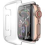 Foxroar kompatibel für Apple Watch Series 4 Clear-Displayschutzfolie Case, iwatch Cover Allround-Schutzfolie Case Schutzfolie Case Cover für iwatch 4 40mm/44mm