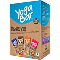 Yogabar Multigrain-Energy Snack Bars Pack - Healthy Diet with Fruits, Nuts, Oats and Millets, Gluten Free and High…