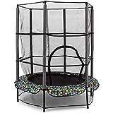 Klarfit Rocketkid trampoline - 140 cm diameter trampoline outdoor, tuintrampoline met afsluitbaar veiligheidsnet, bungeestouw