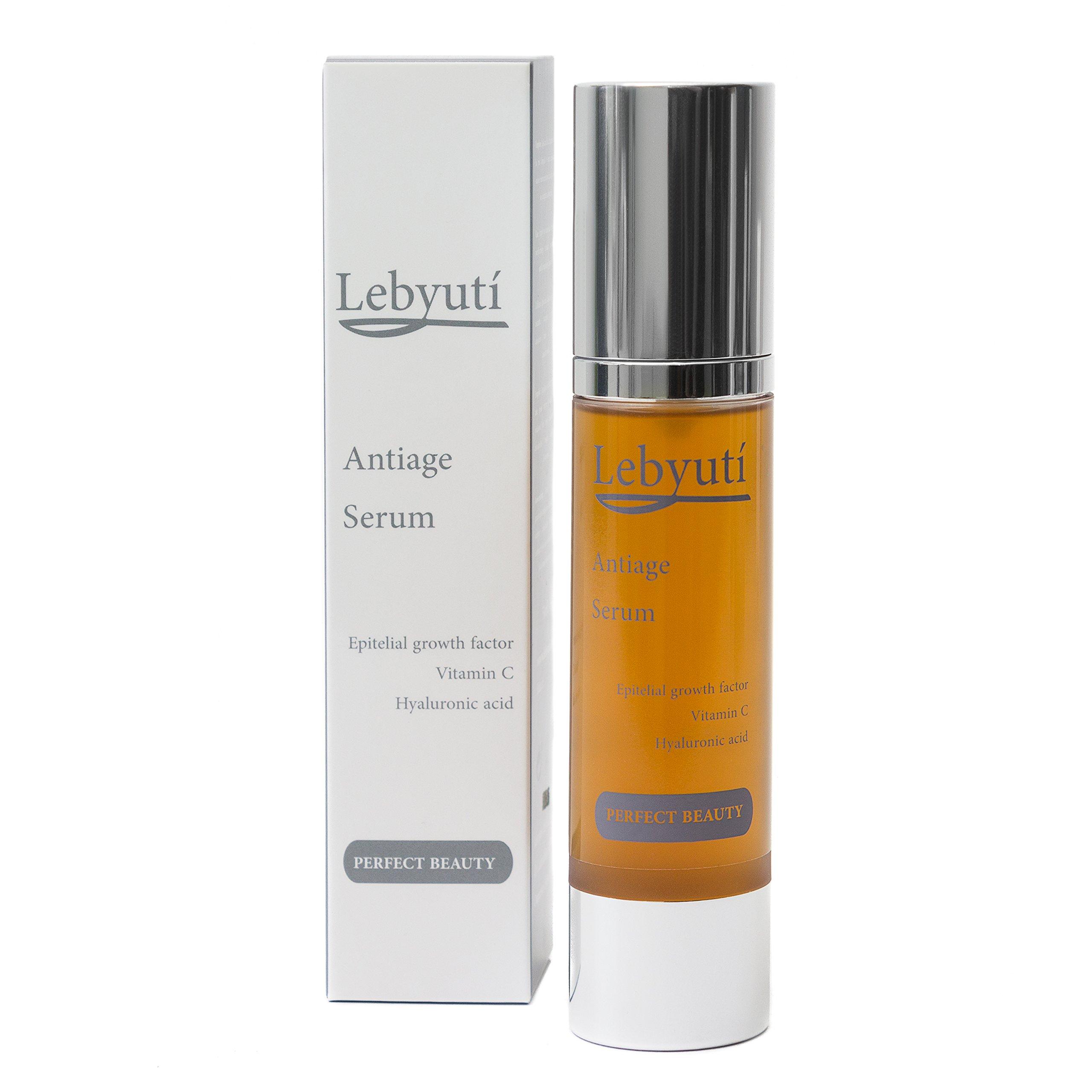 LEBYUTÍ Serum facial antiarrugas. Serum hidratante efecto lifting con ácido hialurónico, vitamina C, colágeno, açaí y té…