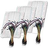 AZDelivery Breadboard Kit - 3 x 65pcs Jumper Wire Cable M2M e 3 x Mini Breadboard 400 Pins compatibile con Raspberry Pi