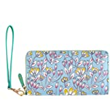 Tokyo Blooms and Boons Wristlet - Teal