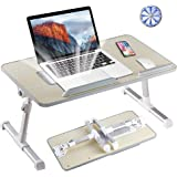 Tormeti Adjustable #Laptop Bed Table, Bed Tray Table, Portable Standing Desk, with Foldable Legs, Foldable Sofa Breakfast Tab