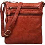 STILORD 'Juna' Damen Umhängetasche Leder Handtasche Vintage Damentasche Ausgehtasche für 9,7 Zoll Tablets und iPad Echtleder