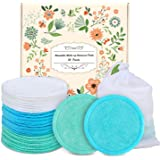 Reusable Cotton Rounds,18 Pack Washable Eye Face Makeup Remover Cotton Pads Washable Eco-Friendly Bamboo Cotton Pads for…
