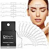 100-pack ögonbrynslinjal med 1 låda 10M Premium ögonbrynsmappningsbläcksträng för mikrobladdning