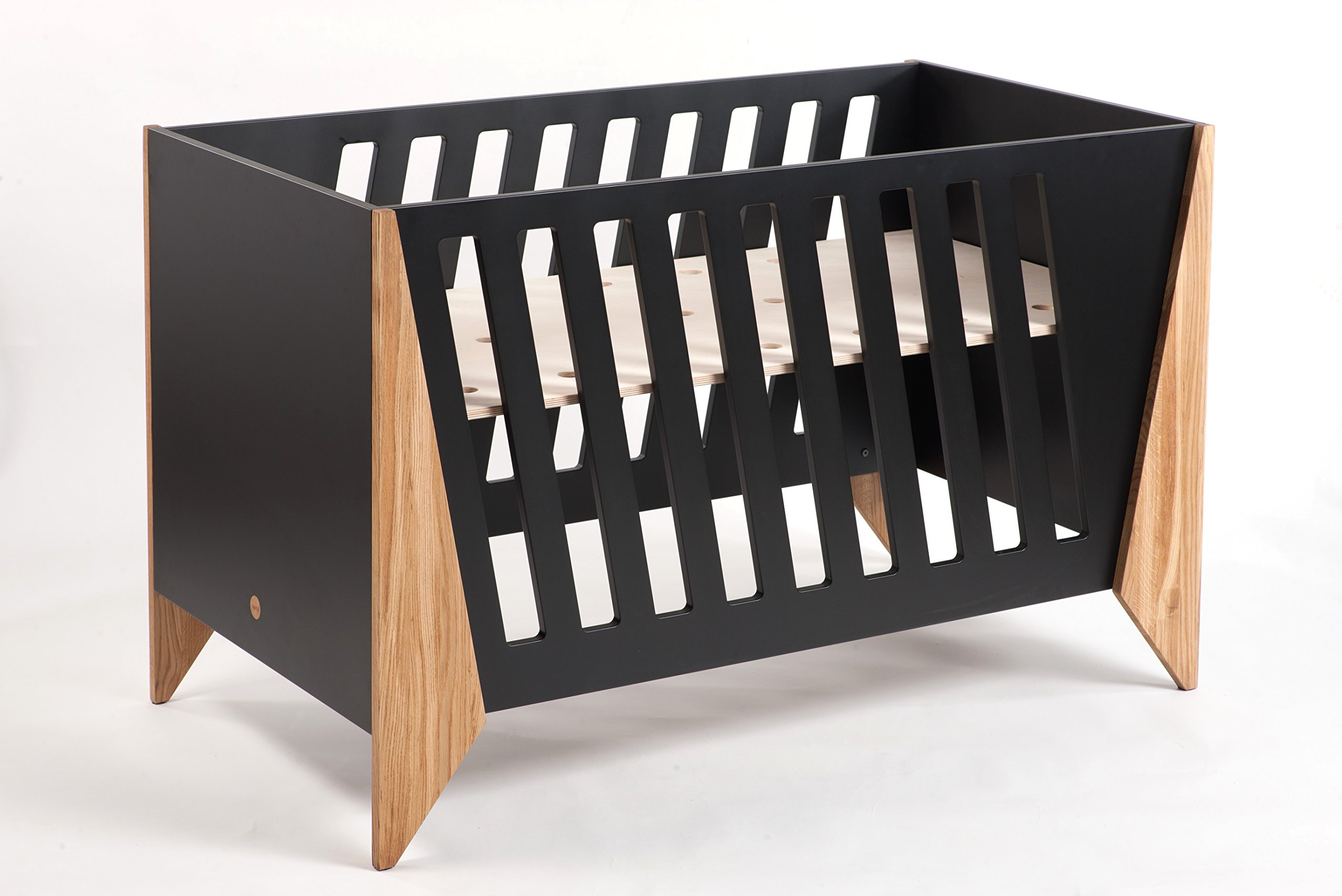 Nursery Cot (Black)  Made from high quality materials Mattress included Unique Scandinavian design 3