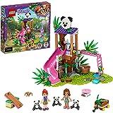 LEGO 41422 Friends Panda Jungle boomhut Set met Olivia, Speelgoed Dieren met Mini Poppetjes voor Meisjes en Jongens vanaf 7 J