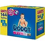 Dodot - Pañales para bebé, 112 pañales 11-16 kg tamaño 5 + 2 paquetes de toallitas gratis