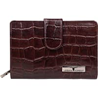 Urban Forest Arya Brown Printed Leather Wallet for Women