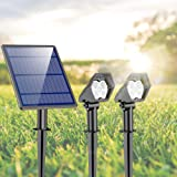 Luces Solares para Exterior, Ultra Potente Lámparas Solares Impermeable IP65, Focos LED Exterior con 3 modos luminosidad, Luz