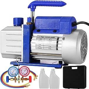 OldFe 220V Unterdruckpumpe Vakuumger/äte Pumpe 3 CFM Vakuumpumpe Unterdruckpumpe 1720 RPM Refrigerant Vacuum Pump