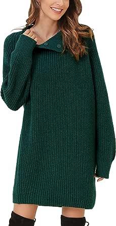 Woolen Bloom Maglioni Donna Collo Alto Maglione Vestito Maglioni Pullover Manica Lunga Felpa Inverno attività Informali