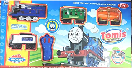 Thomis Train Track Toy Set with Sound Intelligent, Remote Control and Beautiful Light