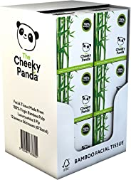 The Cheeky Panda 100 Percent Bamboo Facial Tissue, Pack of 12, Total 672 Tissues