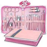 AUTENPOO - Kit 26 in 1 professionale per manicure e pedicure, strumenti per pedicure e manicure con tagliaunghie per piedi e