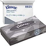 Kleenex 8835 Scatole di fazzoletti, 21 scatole da 100 fogli, 2 veli, Morbidi e resistenti, Inodore, Colore: bianco, 08835020