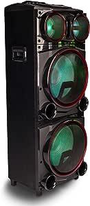 Bluetooth Lautsprecher Mit Doppeltem Subwoofer Lichteffekt Und 1000 W Leistung Mit Sd Eingängen Usb Aux In Und Fm Radio Ngs Wild Punk 3 Audio Hifi