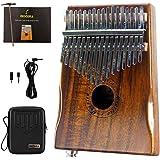 MOOZICA EQ Kalimba, Instrument kalimba électro-acoustique en bois de koa massif, piano à queue marimba avec instrument de mus