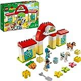 LEGO DUPLO Town Maneggio per la Cura dei 2 Pony Giocattolo, Ideale per Bambini Piccoli di 2+ Anni, Set di Giochi con Fattoria