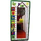 Henbea 153964 - Specchio misuratore 50-150 cm, giallo, plastica
