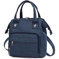 LOVEVOOK Tasche Klein Canvas Umhängetasche Damen Handtasche Klein Crossbody Tasche Messenger Bag Schultertasche 3 in 1…