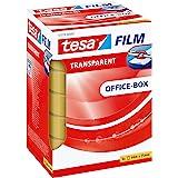 tesafilm transparant - transparant plakband met sterke hechting - bestand tegen veroudering en scheurvast, Office-Box met 6 r