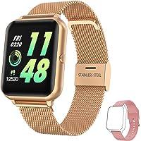 Smartwatch Damen Herren, HopoFit Fitness Tracker 1.4 Zoll Touchscreen Smart Watch mit Pulsuhr Schlafmonitor Stoppuhr…