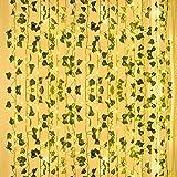 Yumcute 12 Pack Lierre Plante Artificielle Guirlande Exterieur Faux Lierre Feuillage, Liane Artificielle Anti-ultraviolette a